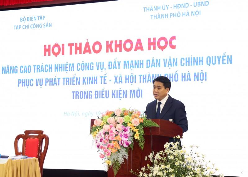 Nâng cao trách nhiệm công vụ, đẩy mạnh dân vận chính quyền Hà Nội