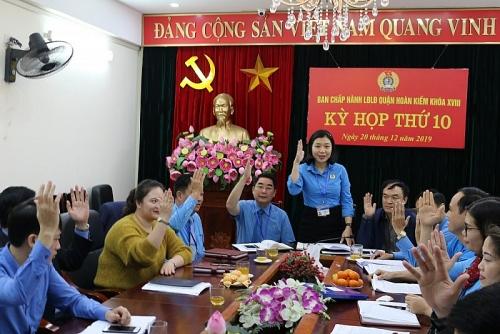 Hội nghị Ban chấp hành lần thứ 10 Liên đoàn lao động quận Hoàn Kiếm