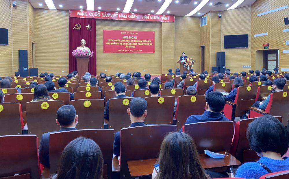Quận uỷ Đống Đa quán triệt Nghị quyết Đại hội đại biểu Đảng bộ thành phố Hà Nội lần thứ XVII