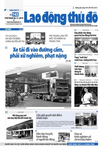 Lao động thủ đô - Số 143_2019