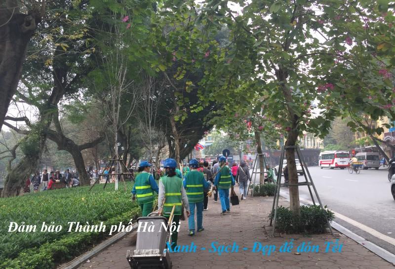 Thành phố Hà Nội đảm bảo xanh sạch đẹp để đón Tết