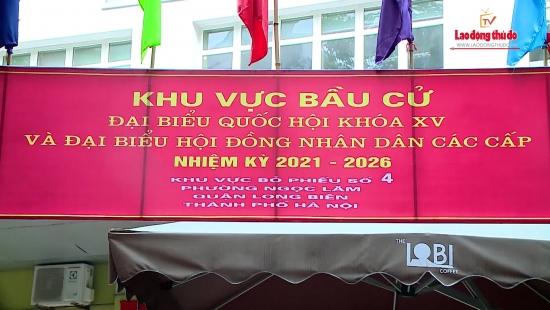 Thành phố Hà Nội tỉ lệ cử tri đi bỏ phiếu đạt hơn 99%.