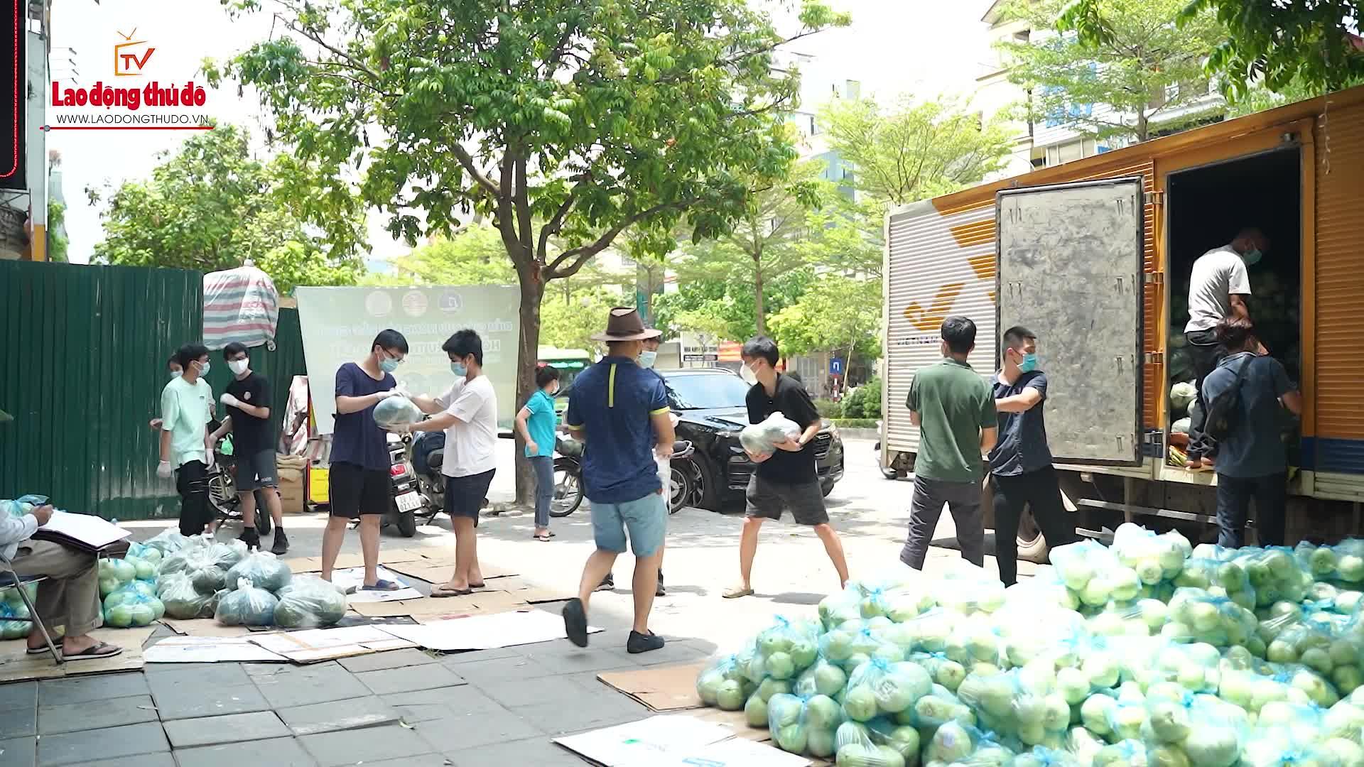 Người dân Thủ đô chung tay hỗ trợ đầu ra cho nông sản Bắc Giang trong mùa dịch