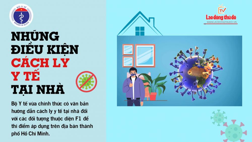 Những điều kiện cách ly y tế tại nhà