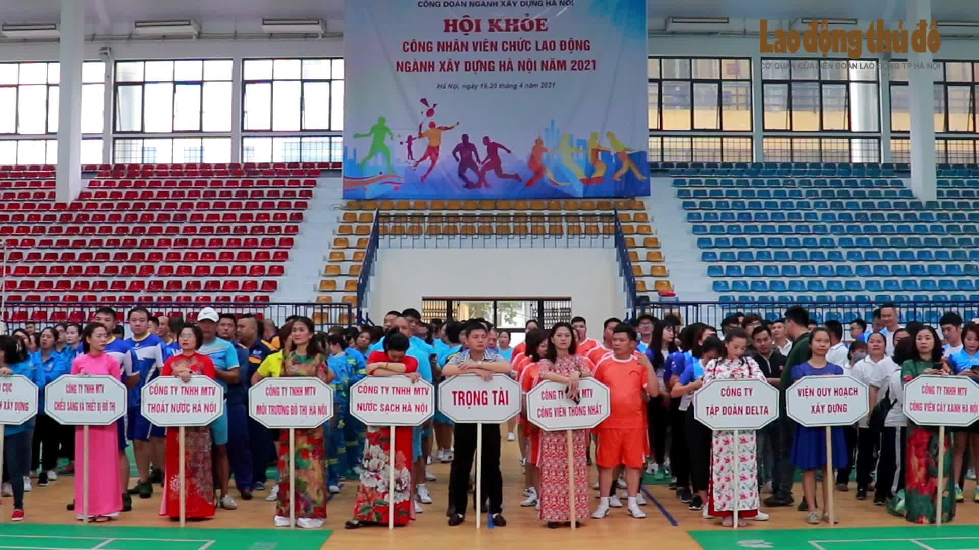 Đẩy mạnh phong trào thể dục thể thao trong công nhân viên chức lao động ngành Xây dựng Hà Nội