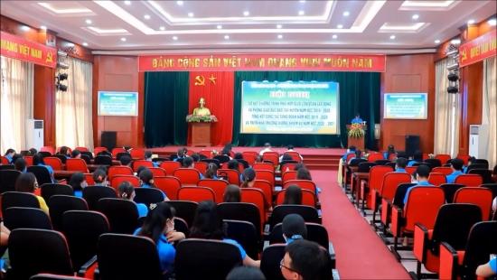 Hội nghị tổng kết hoạt động công đoàn khối giáo dục huyện Phú Xuyên