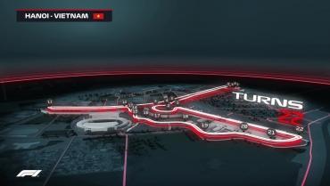 Hình ảnh mô phỏng đường đua F1 tại Hà Nội