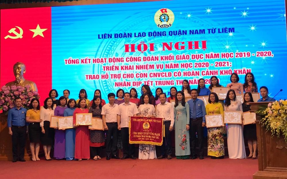 Công đoàn khối giáo dục quận Nam Từ Liêm phối hợp với chuyên môn đổi mới toàn diện giáo dục