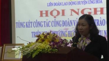 Đại hội công đoàn huyện Ứng Hòa